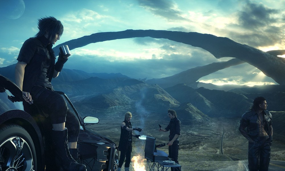 Final Fantasy XV party lancio