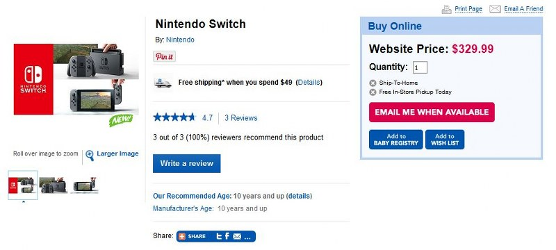 "Toys ""R"" Us Switch"